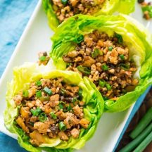 Hoison and Tofu Thai Larb with Butter Lettuce Wrap