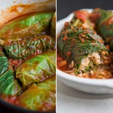 Vegan-Rice-and-Lentil-Stuffed-Cabbage-Rolls-with-Tomato-Sauce