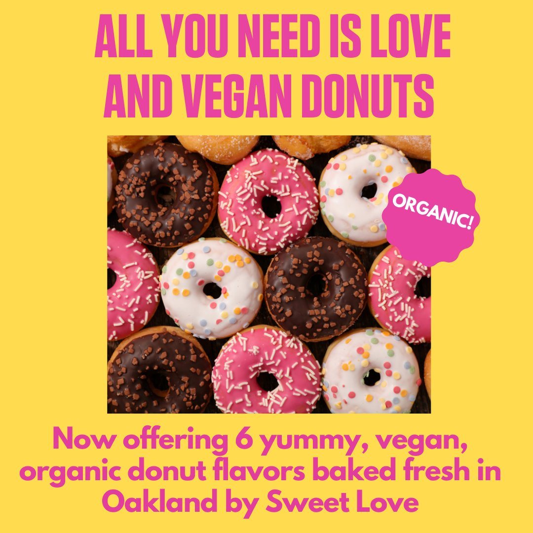 All you need is love and vegan donuts.
