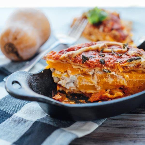 Vegan Butternut Squash Marinara Lasagna